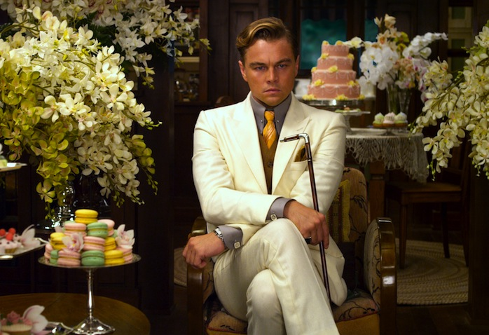 "LEONARDO DiCAPRIO as Jay Gatsby in Warner Bros. Pictures' and Village Roadshow Pictures' drama ""THE GREAT GATSBY,"" a Warner Bros. Pictures release."